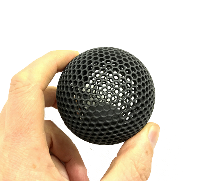 3D Printed Black Ball